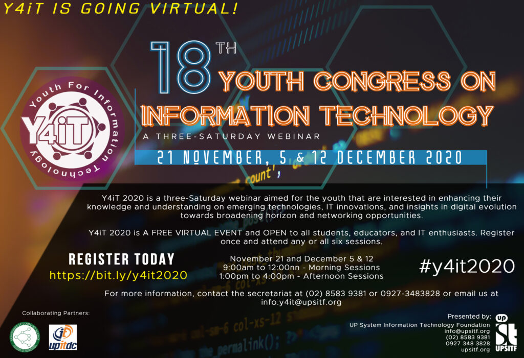Y4iT is back and going virtual!